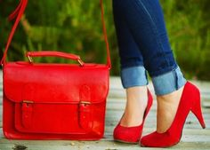 nothing sexier than red shoes and the red bag is kinda sexy too
