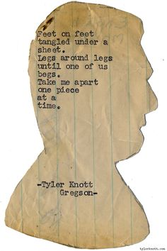 Typewriter Series #1171 by Tyler Knott Gregson*Chasers of the Light, is available through Amazon, Barnes and Noble, IndieBound , Books-A-Million , Paper Source or Anthropologie *