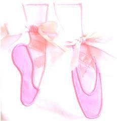 Ballet Shoes Applique Design