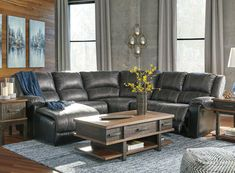 Reclining Sectional With Chaise, Leather Reclining Sofa, Leather Recliner, Armless Chair, Living Room Grey, Living Room Sets, Grey Leather Couch, Brown Couch, Family Room Sectional