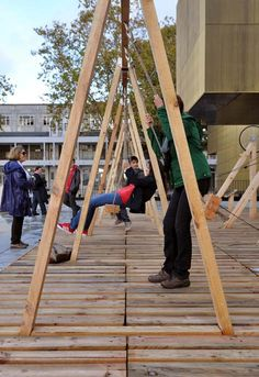 Swing by Moradavaga generates electricity to power lighting by swinging on it.
