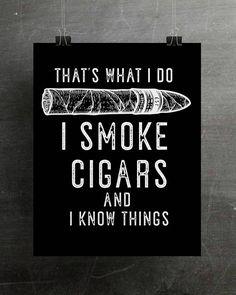 Cigar Decor Cigar Art Print Cigar Lover Gift Cigar Art