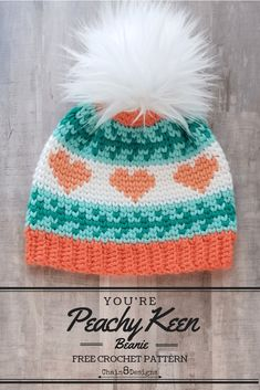 fc61e841ab7 You re Peachy Keen Beanie (Child Size)