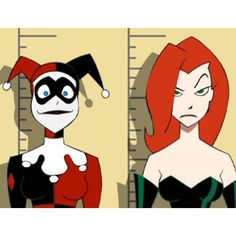 Poison Ivy and Harley Quinn Gotham Girls ❤ liked on Polyvore featuring backgrounds and filler