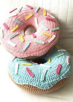 Almofada Crochet Donut