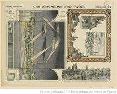 Les Zeppelins sur Paris, Imagerie d'Epinal, Pellerin, 1915