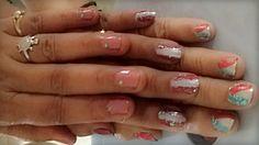 Nail art try!!