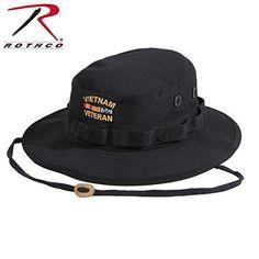 Rothco Vietnam Veteran Boonie Hat, Black, Size 7 1/2
