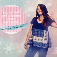 Win a €40 Gift Card for The Bohemian Dream ^_^ http://www.pintalabios.info/en/fashion-giveaways/view/en/2608 #International #Fashion #bbloggers #Giweaway