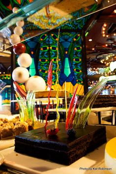 Check out the chocolate gateaux at the dessert bar on Lido Deck on the beautiful Carnival Elation!   Dining aboard the Carnival Elation on Tie Dye Travels with Kat Robinson: http://www.tiedyetravels.com/2013/11/carnival-elation-dining.html #carnivalelation