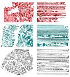 cities organized by shape