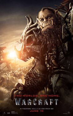 Warcraft the Beginning movie poster Fantastic Movie posters movie posters movie posters movie posters movie posters movie posters movie Posters Warcraft 2016, Warcraft Heroes, Warcraft Movie Characters, World Of Warcraft Movie, Science Fiction, Orc Warrior, War Craft, Paula Patton, Movie Posters