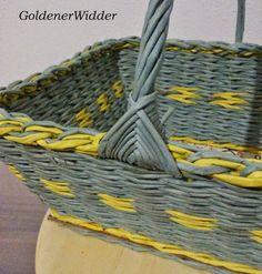 Плетение из газетных трубочек: Ручка для корзин, очень стабильная. Ручка. fül