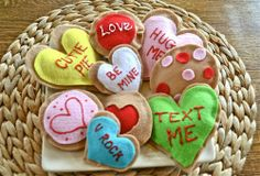 DIY Tutorial to Make: Felt Valentine's Day Cookies | The Happy Housewife