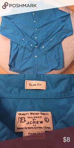 J.Crew Shirt Aqua Dress Shirt J. Crew Shirts Dress Shirts