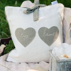 personalised wedding/love cushion by coco cuscino | notonthehighstreet.com