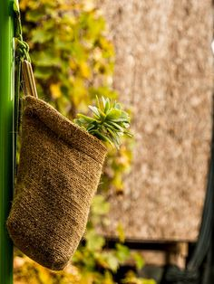 Set of 4 Hanging Basket Natural Linen Hanging Bag by ShedremHome Coffee Bean Bags, Coffee Sacks, Rattan, Wicker, Coir, Hanging Baskets, Diy Wreath, Natural Linen, Hemp