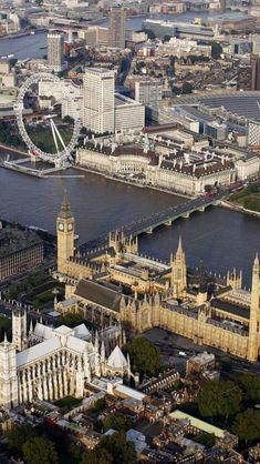 London Eye, Big Ben, Houses of Parliament, Westminster Abbey London City, London Eye, London Skyline, West London, Places To Travel, Places To See, Westminster Abbey London, Westminster Bridge, Magic Places
