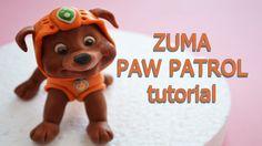 ZUMA CAKE TOPPER FONDANT - PAW PATROL TORTA IN PASTA DI ZUCCHERO TUTORIAL