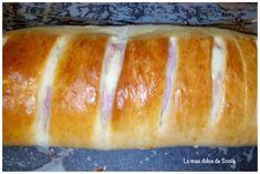 Pan relleno de Jamon york y queso