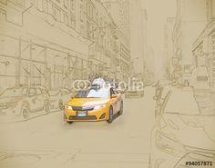 Photo: Yellow Cab in Manhattan, New York City.