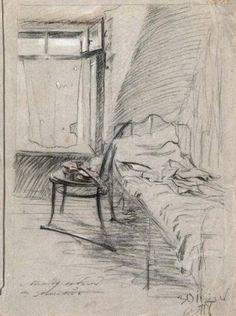 Самохвалов А.Н. Между небом и землей. Студенческая комната Александра Самохвалова. 1914