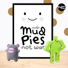 'Mud Pies X War' Print by Keton Kids    Kids poster range swapping cutesy for cool. Kids interiors, bedroom and nursery decor.  Printed on 200gsm satin paper  Size: 50 x 70cm
