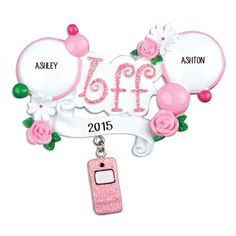 BFF Personalized Christmas Ornament - Child Ornaments - Personalized Ornaments - Products