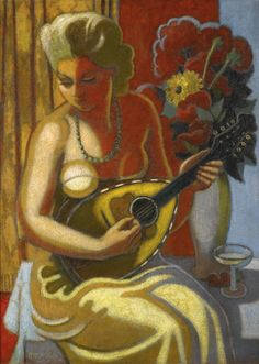'Femme à la Mandoline' (ca.1944) by Jean Metzinger