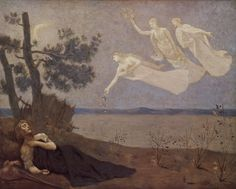 Pierre Puvis de Chavannes (French, 1824–1898) The Dream, 1883. Oil on canvas, 32.3 × 40.2 in (82 × 102 cm). Walters Art Museum, Baltimore, Maryland.
