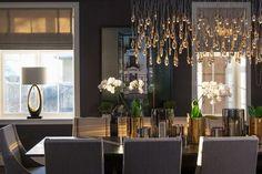 galleri-liftgardiner01 Chandelier, Ceiling Lights, Table Decorations, Interior Design, Lighting, Dahl, House, Dining Rooms, Furniture