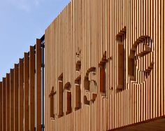 3DReid designed a new Health & Wellbeing Centre for the Thistle Foundation -  they decided to integrate the logo of the foundation into the wood siding.
