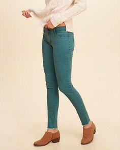 Hollister Low-Rise Super Skinny Twill Pants