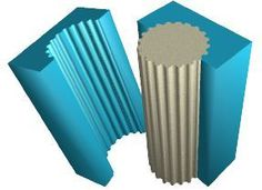 moule colonne crénelée en polystyrène