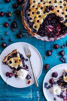 Vanilla Bourbon Cherry-Blueberry Pie | halfbakedharvest.com www.MadamPaloozaEmporium.com www.facebook.com/MadamPalooza