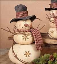 cute snowman gourds