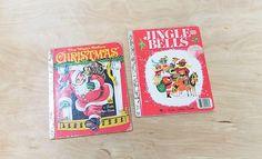Vintage Christmas Books The Night Before Christmas and Jingle