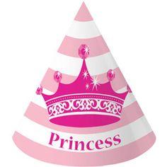 Pink Princess Royalty Party Hats (8ct)