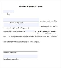 Income Verification Letter Format  Printables
