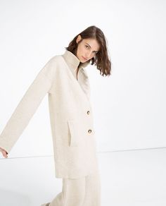 TEXTURED WEAVE COAT-View All-OUTERWEAR-WOMAN | ZARA United States