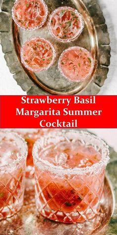 STRAWBERRY BASIL MARGARITA SUMMER COCKTAIL Tired of the straight-up margarita? This strawberry basil margarita is a fun twist on the classic. It's a sweet, tart and refreshing cocktail, perfect for summer outdoor sipping! Margarita Recipes, Cocktail Recipes, Dinner Recipes, Best Summer Cocktails, Refreshing Cocktails, Tequila, Crockpot Recipes, Vegan Recipes, Seafood Dinner