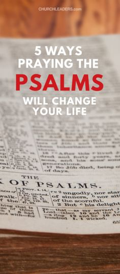 Praying the Psalms means talking to God about what comes to mind as you read through the Psalms. I believe the Book of Psalms is the best place in Scripture from which to pray Scripture.