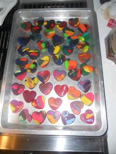 heart crayons...great valentine gift for the kids at Myah's school!!!