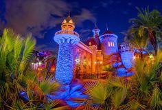 Prince Eric's Castle in New Fantasyland at Dusk