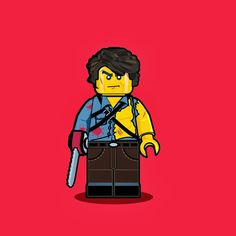 Artist Dan Shearn loves pop culture and LEGO, so naturally he combined his love for both to create illustrations of iconic characters as. Iconic Movie Characters, Iconic Movies, 80s Movies, Horror Movies, Lego Portrait, Ash Evil Dead, Lego Minifigs, Cool Lego, Awesome Lego
