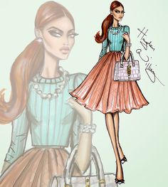 #Hayden Williams Fashion Illustrations #'Prim in Pastels' by Hayden Williams