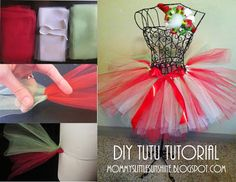 Do it yourself tulle tutu tutorial!  You'll need tulle, elastic, and ribbon.  A needle and thread or sewing machine to attach the elastic into a circle. :)