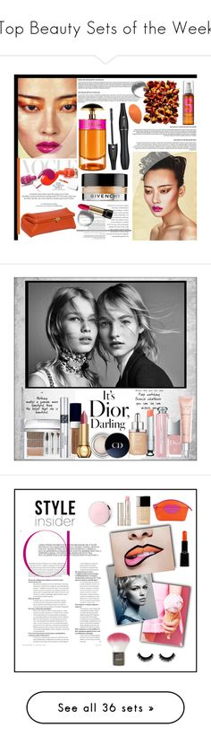 """Top Beauty Sets of the Week"" by polyvore ❤ liked on Polyvore featuring beauty, Prada, Giorgio Armani, Lancôme, TIGI, Roksanda Ilincic, Givenchy, Louis Vuitton, Budd Leather and Beauty"