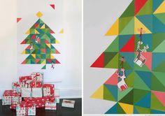 マスキングテープでクリスマスツリーの飾り付け画像05