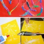SALT and PVA GLUE Paintings
